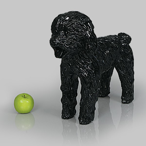 Dog Mannequin George - Gloss Black