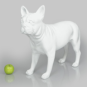 Dog Mannequin Patricia - Gloss White